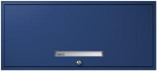 Electric Blue Flipper Door Cabinet