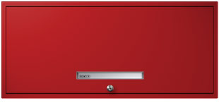 Bright Red Flipper Door Cabinet