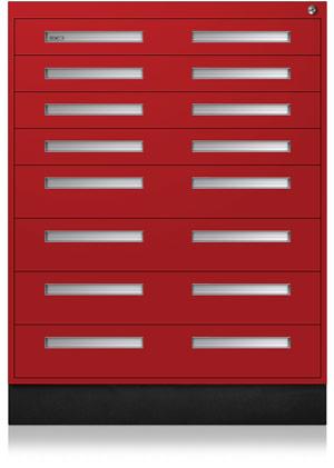 Bright Red Interlocking Cabinet