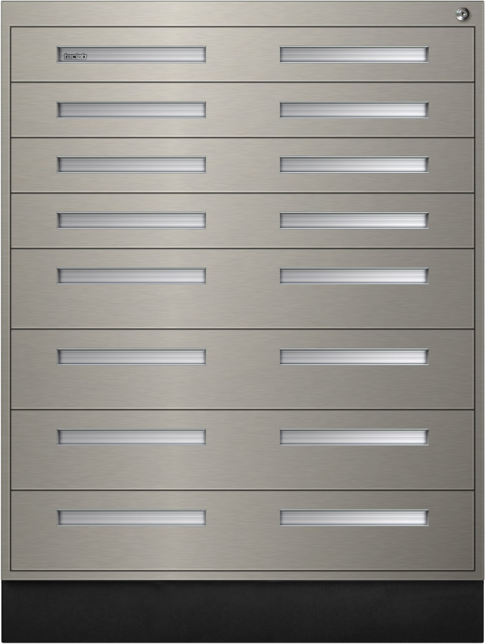 Teclab Stainless Steel Interlocking Drawer Storage Cabinets