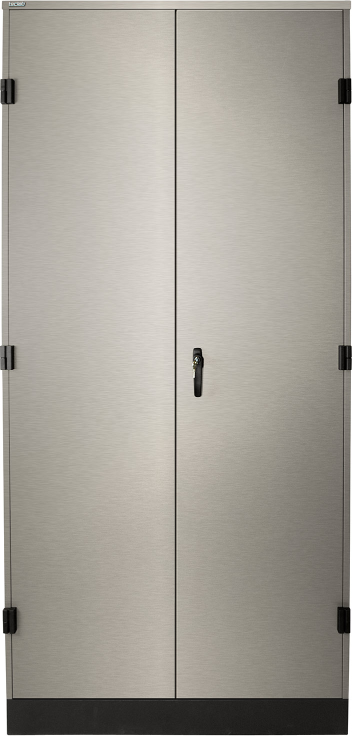 Teclab Stainless Steel Tall Storage Cabinets