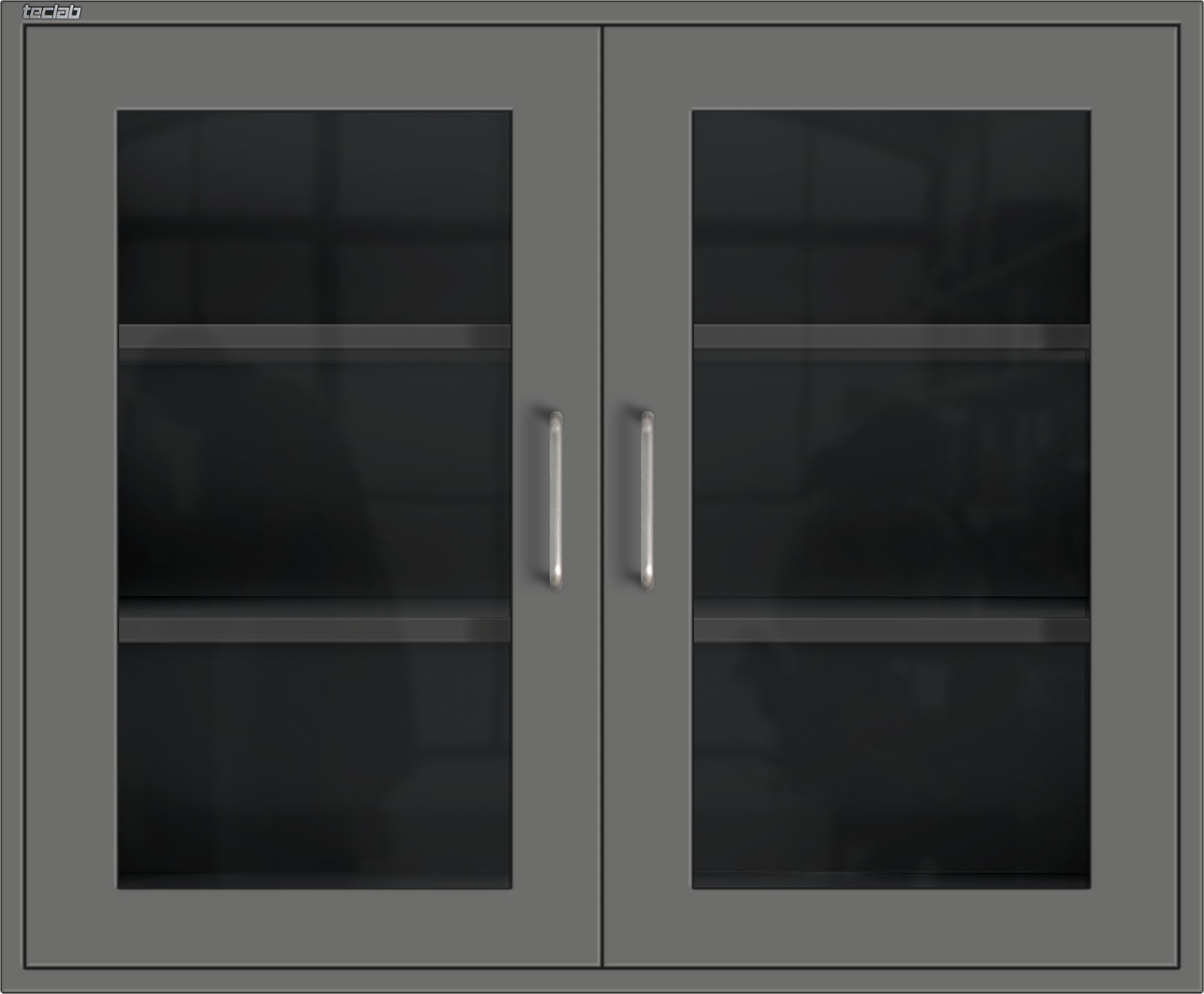 Teclab Wall Cabinet with Hinged Glass Doors