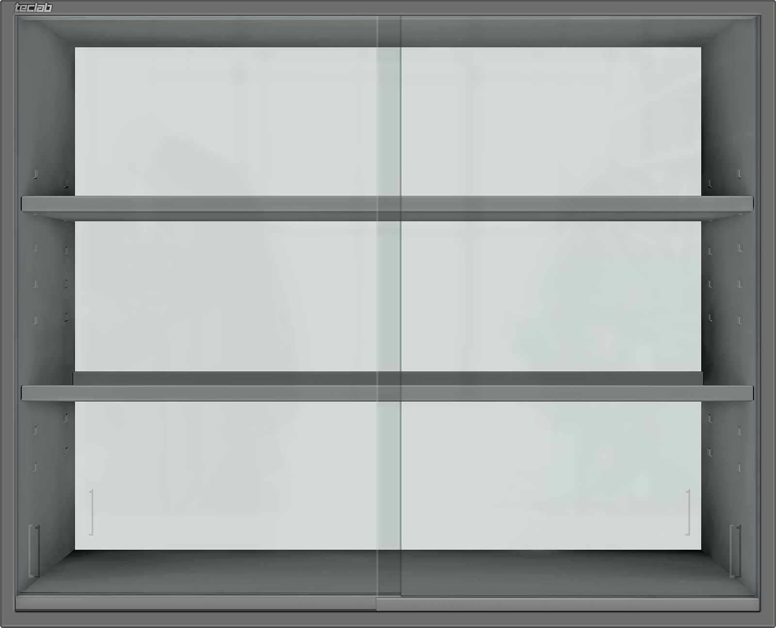 Teclab Wall Cabinet with Sliding Glass Doors