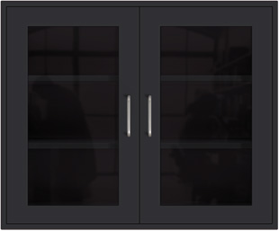 Black Wall Cabinet