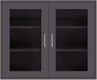 Gunmetal Wall Cabinet