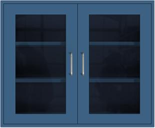 Nitro Blue Wall Cabinet