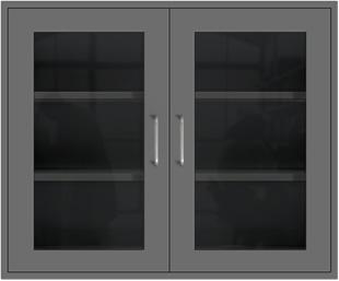Profile Gray Wall Cabinet