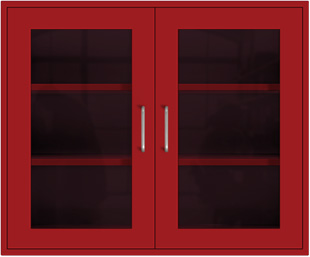 Bright Red Wall Cabinet