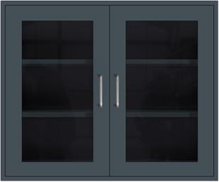 Slate Gray Wall Cabinet
