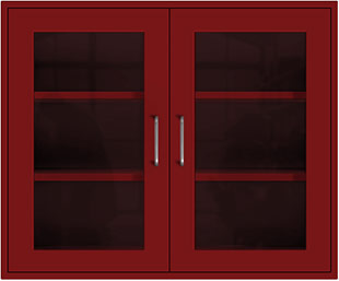 Thermal Red Wall Cabinet