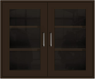 Woodland Brown Wall Cabinet