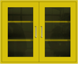 Safety Yellow Wall Cabinet